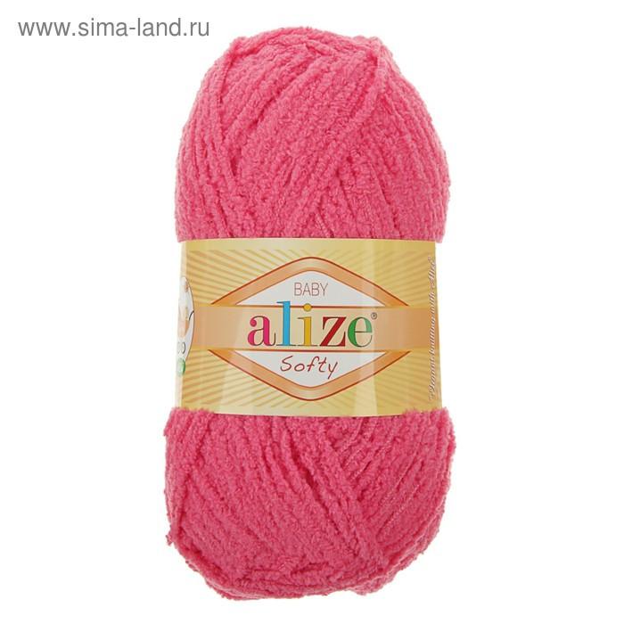 "Пряжа ""Softy"" 100% микрополиэстер 115м/50гр (33 ярко-розовый) - фото 2"