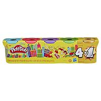 Пластилин Игровой набор 4+1 банки в ассортименте Play Doh.