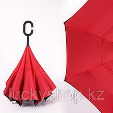 Умный зонт Наоборот, цвет красный + черный, фото 3
