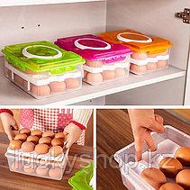 Контейнер для хранения яиц 24 шт., цвет салатовый, фото 3