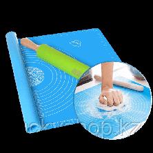 Силиконовый кулинарный коврик 40х50 см, цвет голубой, фото 3