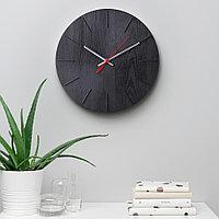 ВОКАЛИССА Настенные часы, под дерево, черный, 30 см, фото 1