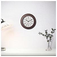 СКАЙРОН Часы настенные темно-коричневые, фото 1