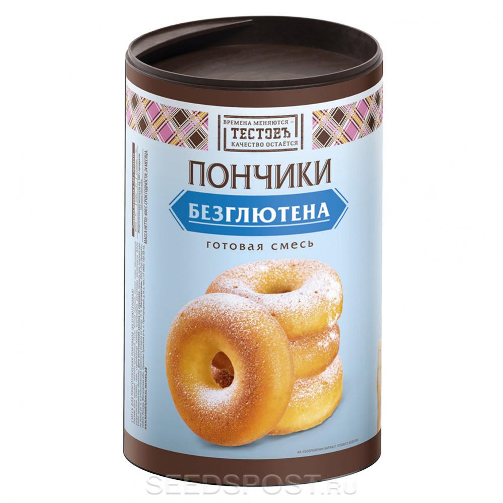 """Сухая смесь Пончики без глютена """"ТестовЪ"""" 400 г"""