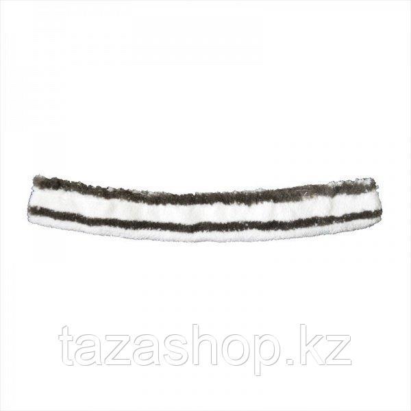 Шубка для мытья окон с абразивом 35 см липучка