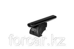 Багажник на рейлинги, 125 см, аэродинамика (чёрный)