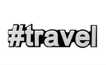 Моносерьга Brosh Jewellery  Хэштег #travel  (пластик, черно белый)
