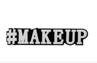 Моносерьга Brosh Jewellery  Хэштег #makeup (пластик, черно белый)