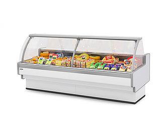 Холодильная витрина Aurora Slim закрытый угол 90 вентилируемая