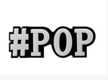 Моносерьга Brosh Jewellery  Хэштег #pop (пластик, черно белый)
