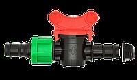 Кран шаровый d 16х17 мм для капельной ленты