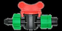 Кран шаровый d 17 мм для капельной ленты