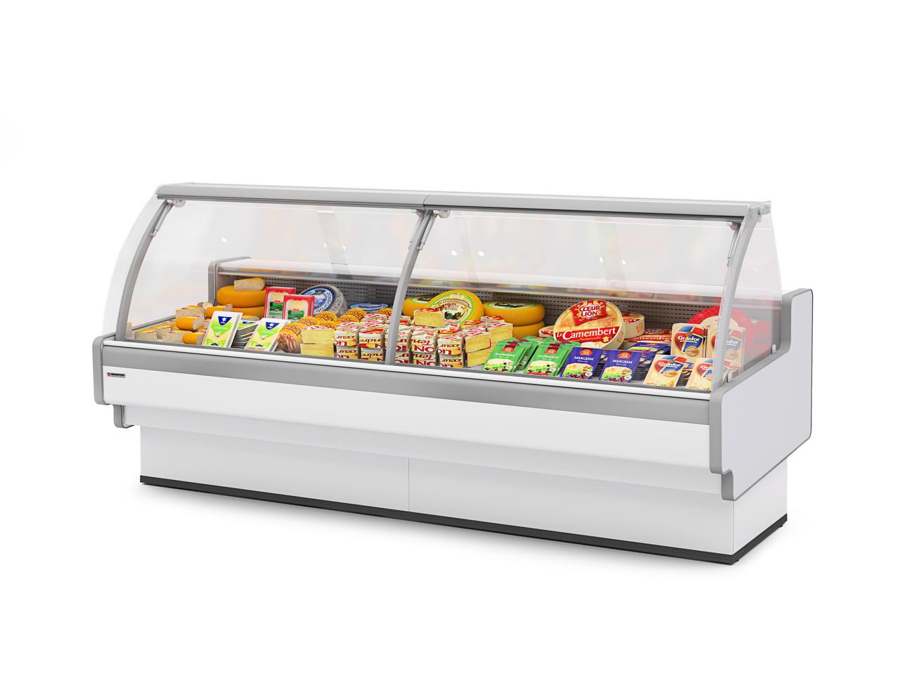 Холодильная витрина Aurora Slim открытый угол 90 вентилируемая