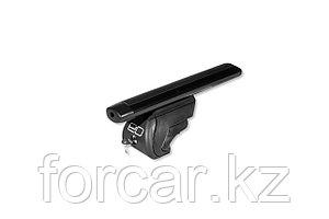 Багажник на интегрированные рейлинги с замком, 125 см, аэродинамика, черный