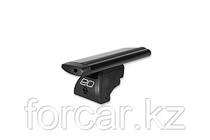 Багажник на рейлинги, 125 см, аэро-крыло, черный