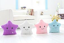 Светящаяся плюшевая подушка с функцией воспроизведения, цвет розовый, фото 2