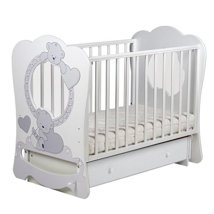 Кровать ЛЕЛЬ Baby sleep-9 МИШКИ Ваниль ПР 016