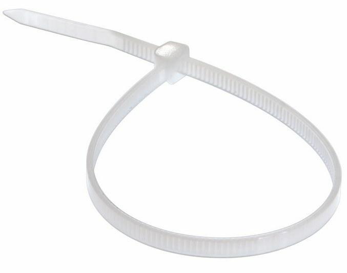 Хомут 07-1302 nylon 5,0*300 мм, (100шт/упак), белый