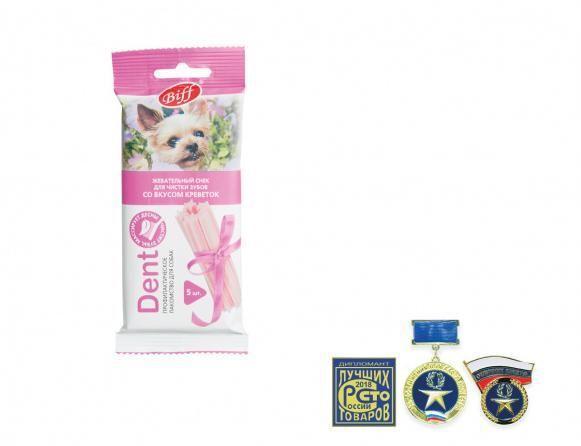 Жевательные снеки Biff DENT для собак мелких пород (Креветки), TitBit - 35 г