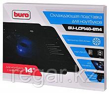 """Подставка для ноутбука Buro BU-LCP140-B114 14""""335x265x23мм 1xUSB 1x 140ммFAN металлическая сетка/пластик черный"""