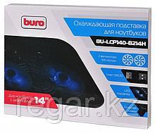 """Подставка для ноутбука Buro BU-LCP140-B214H 14""""338x255x22мм 1xUSB 2x 140ммFAN 480г металлическая сетка/пластик черный"""