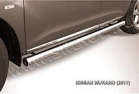 Защита порогов d76 труба Nissan Murano 2010-15