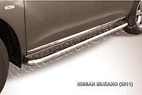 Защита порогов d57 с листом Nissan Murano 2010-15