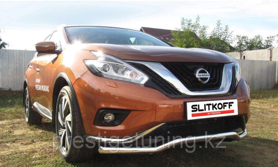 "Защита переднего бампера d57 ""волна"" Nissan Murano 2016-"
