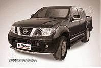 Защита переднего бампера d76 на Nissan Navara 2004-14