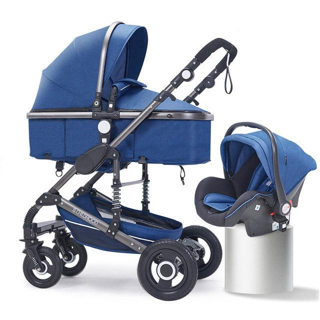 Коляска Belecoo Q3-535  3в1 , синий