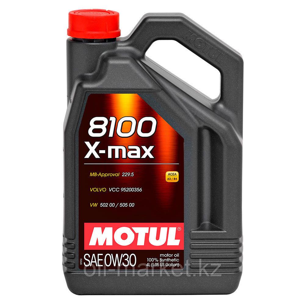 Моторное масло MOTUL 8100 X-MAX 0W-30 4л