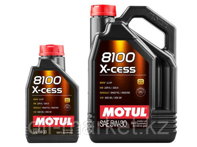 Моторное масло MOTUL 8100 X-CESS 5W-30 5л, фото 2