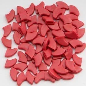 Когти накладные, красные - 40 шт