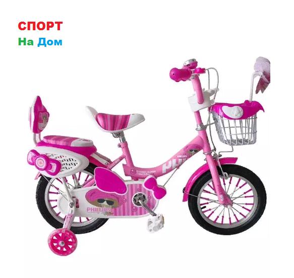 "Велосипед Phillips на 2-3 года для девочек ""Принцесса+"" рама 12"