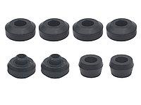Сайлентблоки и резиновые втулки разных размеров для амортизаторов на Mitsubishi Pajero 2