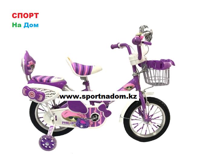 "Велосипед Phillips на 3-4 года для девочек ""Принцесса"" рама 14"