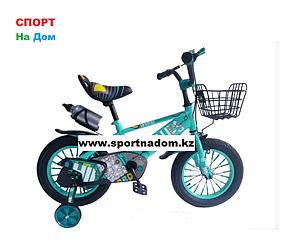Велосипед Phillips от 3 до 4 лет с холостым ходом рама 14 (цвет-зеленый)