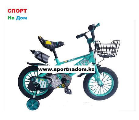 Велосипед Phillips от 3 до 4 лет с холостым ходом рама 14 (цвет-зеленый), фото 2