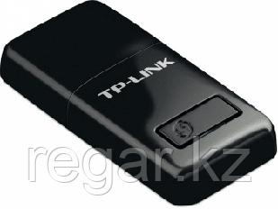 Маршрутизатор TP-Link 300 Мбит/с Беспроводной мини USB-адаптер серии N, малый размер, чипсет Realtek, 2T2R, 2,4 ГГц, 802.11b/g/n, кнопка WPS,