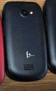 Телефон сотовый f+ Flip1 Black, 2.4'' 240х320, 260MHz, 1 Core, 32MB RAM, 32MB, up to 16GB flash, 0.08Mpix, 2