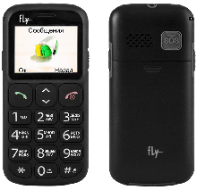 Телефон сотовый Fly Ezzy7+ Black, 1.77'' 160x128, 260MHz, 1 Core, 32MB RAM, 32MB, up to 16GB flash, 0.3Mpix, 2 Sim, 2G, Micro-USB, 600mAh, Android