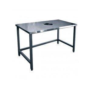 Стол для сбора отходов ССО-1 (800х700х860мм.) вся нерж.