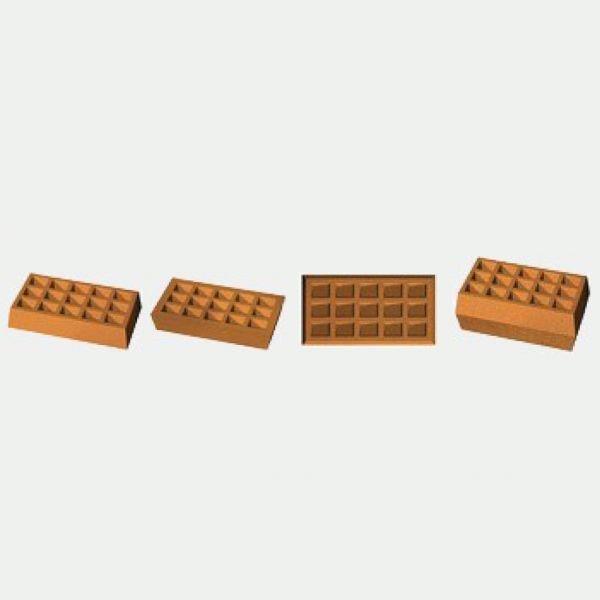 Блок-форма Венская вафля прямоугольная к печи ПЭМ-2У