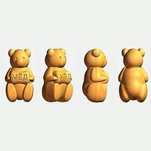 Блок-форма Медведь с бочонком к печи ПЭМ-2У