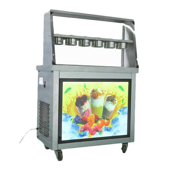 Фризер для ролл мороженого KCB-2Y Foodatlas (контейнеры, световой короб, стол для топпингов)