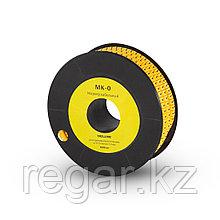 """Маркер кабельный Deluxe МК-0 (0,75-3,0 мм) символ """"0"""" (1000 штук в упаковке)"""