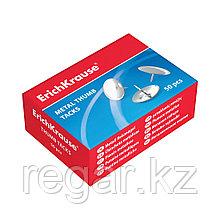 Кнопки металлические никелированные ErichKrause® (коробка 50 кнопок)