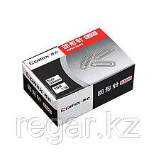 Скрепки металлические никелированные Comix B3500, 29 мм., (коробка 100 скрепок)
