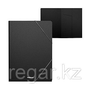 Папка на резинках пластиковая  ErichKrause® Classic, A4, черный (в пакете по 4 шт.)