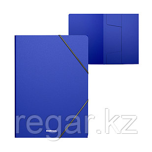 Папка на резинках пластиковая  ErichKrause® Classic, A4, синий (в пакете по 4 шт.)